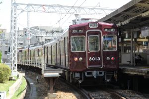 残り少なくなった阪急3000系を撮影しました。